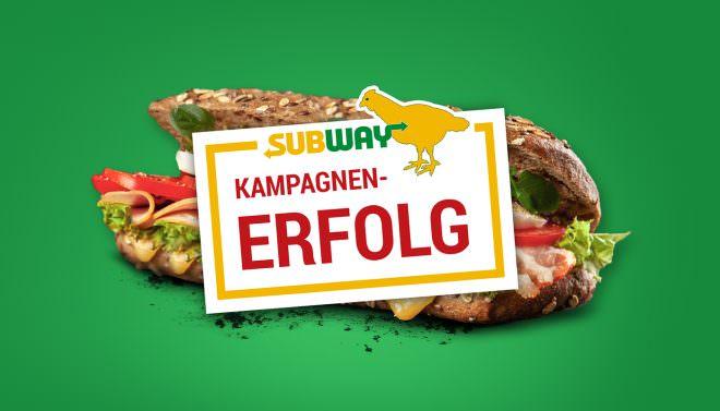 Erfolgsbanner Subway-Kampagne