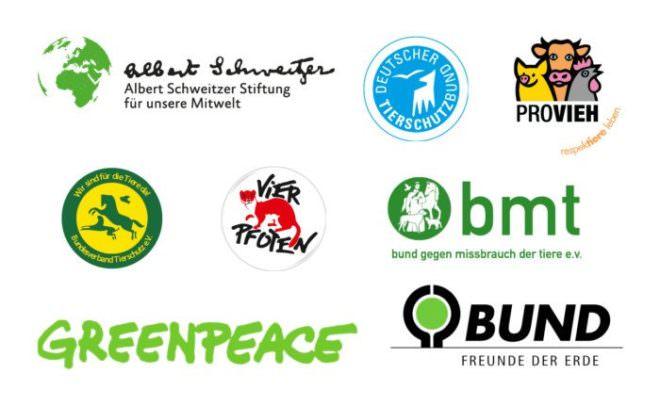 Logos von 8 Tierschutzorganisationen